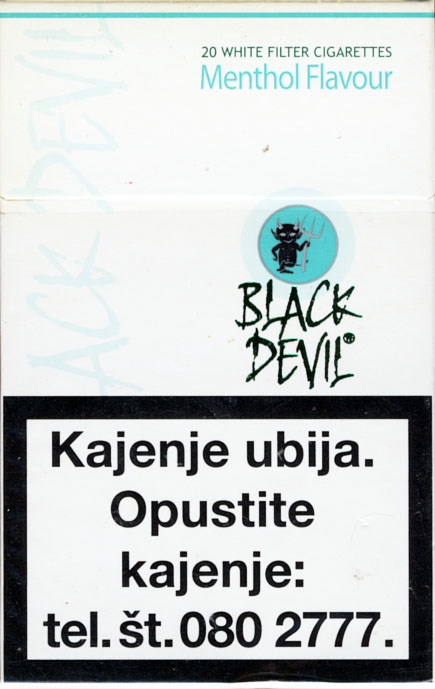 Black Devil cigarettes Sweden