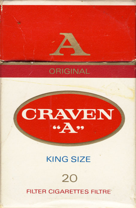 Craven A cigarettes shop Vermont