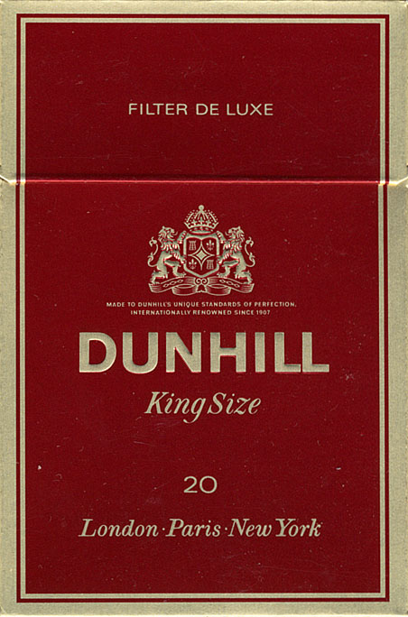 Duty on cigarettes Dunhill into England