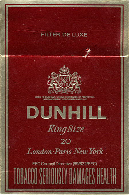 California cigarettes Dunhill costs