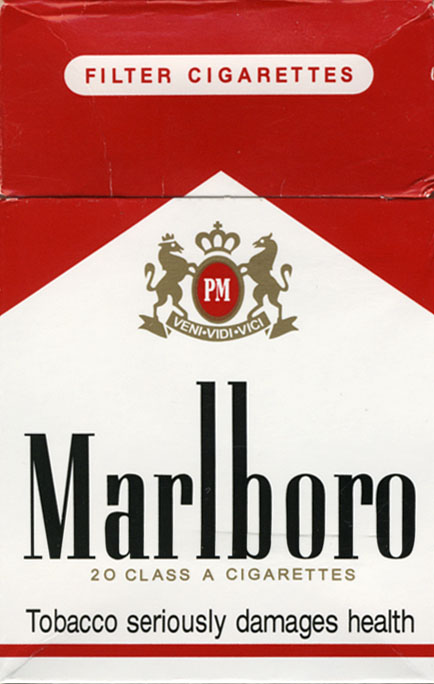 Price of a pack of Marlboro cigarettes in London