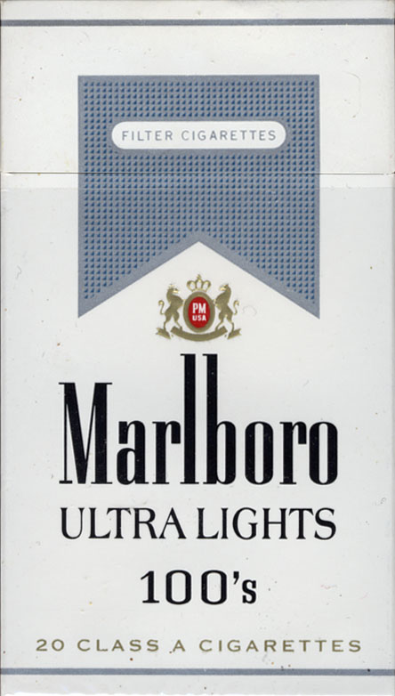Ultra light slim cigarettes 555
