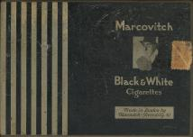 BLACK & WHITE Marcovitch Cigarettes Made In England By Marcovitch-Piccadilly. W.