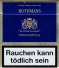 ROTHMANS International World Famous Since 1890 Behind Rothmans Cigarettes Stand Over 100 Years Of Fine Blending (German warning, EU1)