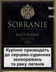 Sobranie London Black Russian Traditional Blend 100's (Ukrainian warning 2007)