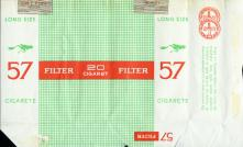 57 Filter Long Size Cigarete (right design 1, wrong print)