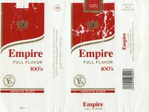 Empire Full Flavor 100's American Blend E Premium Tobacco Empire