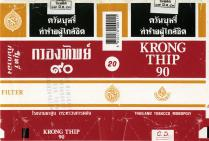 Krong Thip 90 Thailand Tobacco Monoply (Thai warning, black01)