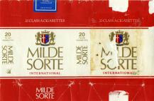 Milde Sorte King Size International 20 Class A Cigarettes