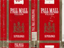 PALL MALL Filter Industria Argentina Superlongs 20 Cigarrillos Rubios